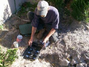 a valve box inspection in Seaside California